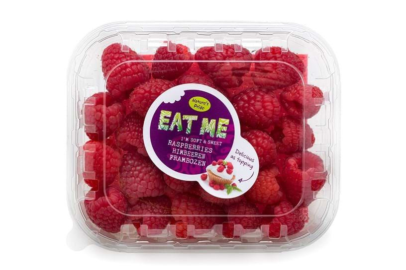 Raspberries - bowl 125 gram